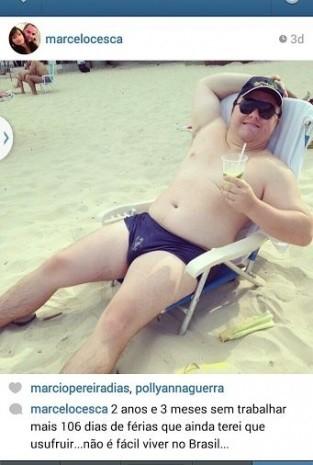 Juiz publica fotos na praia e diz estar deprimido por ganhar sem trabalhar