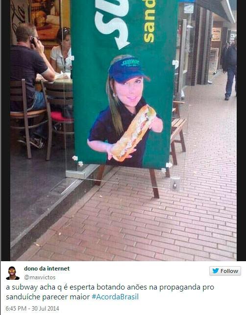 Consumidor reclama de sanduche de 13 cm e vira tema mais comentado nas redes sociais